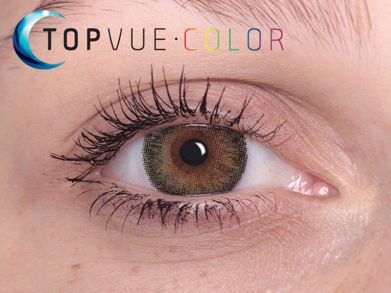 TopVue Color - Con graduación (2lentillas) - Verde en ojos marrones
