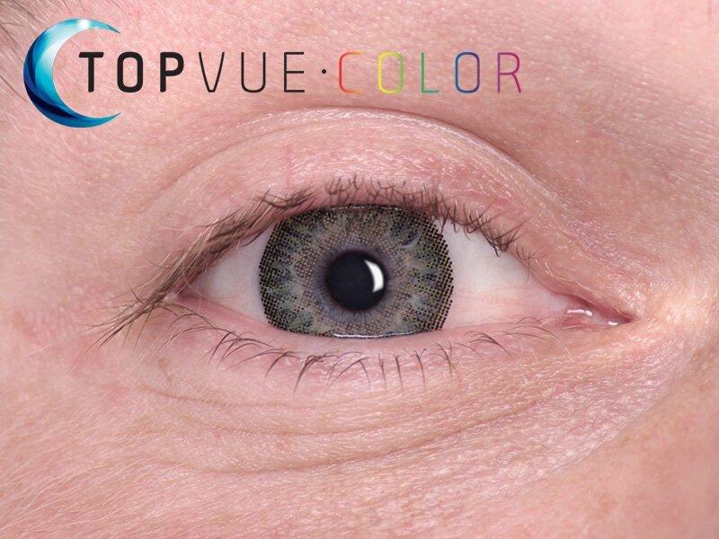 TopVue Color - Con graduación (2lentillas) - Verde en ojos azules