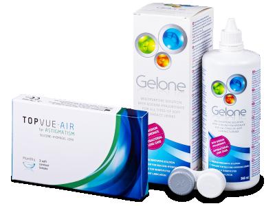 TopVue Air for Astigmatism (3lentillas) + Líquido Gelone360 ml - Pack ahorro