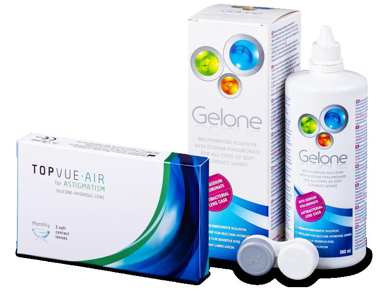 TopVue Air for Astigmatism (3lentillas) + Líquido Gelone360 ml
