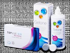 TopVue Air Multifocal (3 lentillas) + Líquido Gelone360 ml