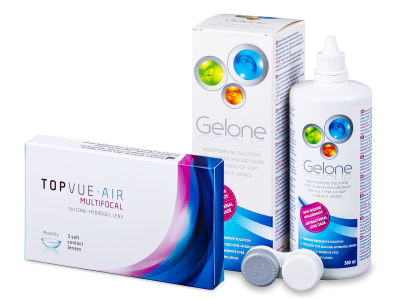 TopVue Air Multifocal (3 lentillas) + Líquido Gelone 360 ml