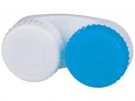 Accesorios para lentes de contacto - Estuche de lentillas Azul y Blanco L+R