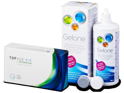 TopVue Air for Astigmatism (6lentillas) + Gelone 360 ml
