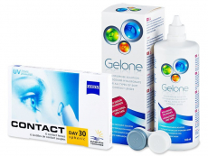 Carl Zeiss Contact Day 30 Spheric (6 lentillas) +  Líquido Gelone 360 ml