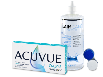 Acuvue Oasys with Transitions (6 lentillas) + líquido Laim-Care  400 ml