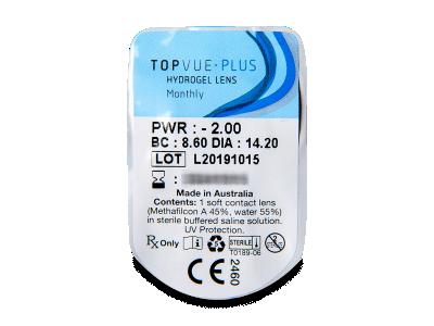 TopVue Monthly Plus (1lentilla) - Previsualización del blister