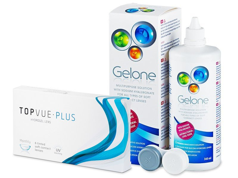 TopVue Monthly Plus  (6 Lentillas) +  Líquido Gelone 360 ml - Pack ahorro