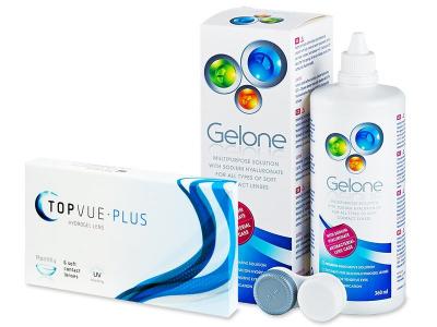 TopVue Monthly Plus  (6 Lentillas) +  Líquido Gelone 360 ml