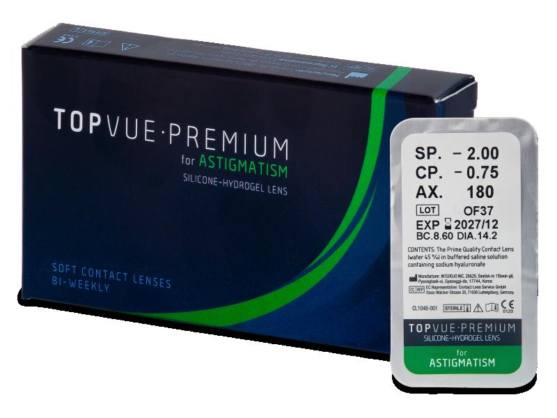 TopVue Premium for Astigmatism (1lentilla) - Lentillas tóricas