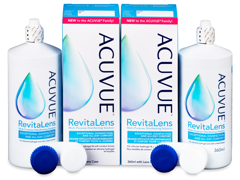 Líquido de limpieza  Acuvue RevitaLens 2x 360 ml  - Economy duo pack- solution