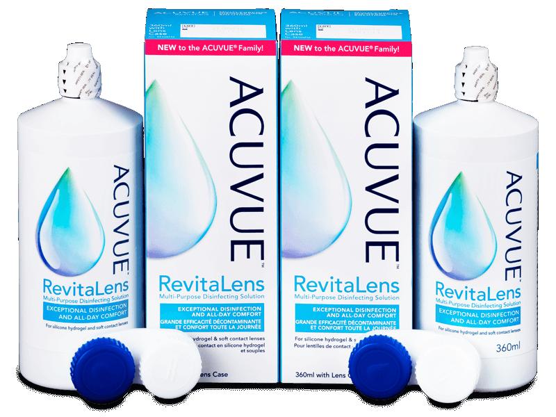 Líquido de limpieza  Acuvue RevitaLens 2x 360 ml  - Pack ahorro - solución doble