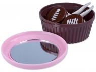 Otros fabricantes - Estuche de lentillas con espejo Muffin - rosa