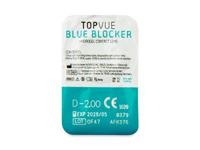 TopVue Blue Blocker (5 lentillas) - Previsualización del blister