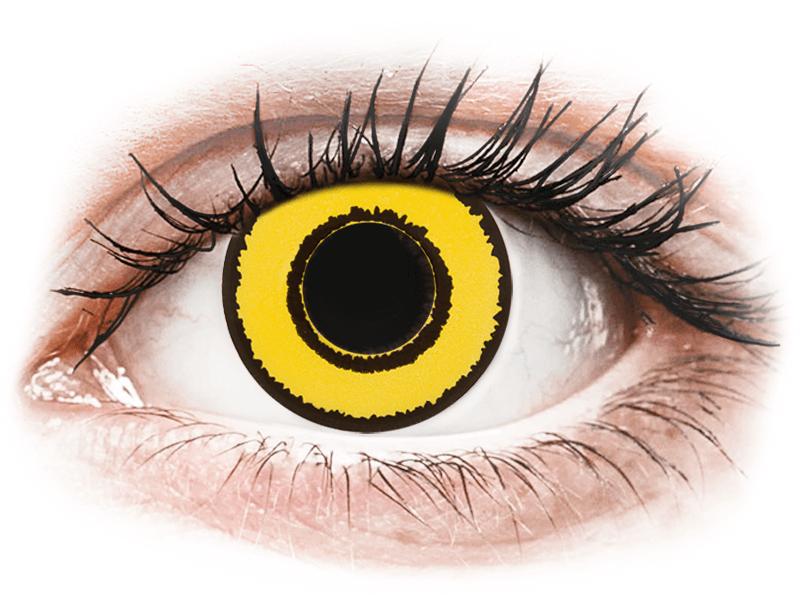 CRAZY LENS - Yellow Twilight - Diarias sin graduación (2 Lentillas) - Lentillas de colores