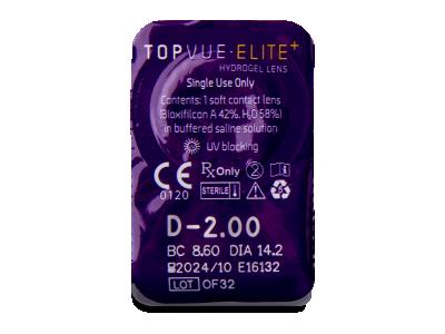 TopVue Elite+ (180 lentillas) - Previsualización del blister