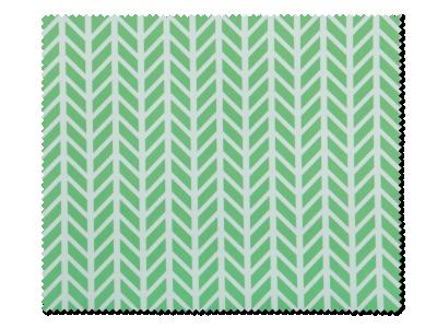 Paño de limpieza para gafas - verde y blanco de diseño herringbone