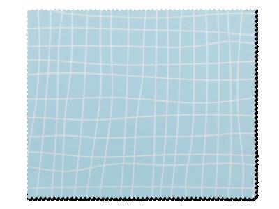 Paño de limpieza para gafas - azul claro con textura de rejilla