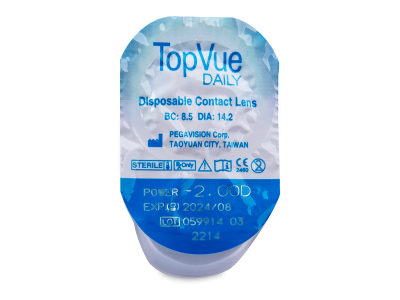 TopVue Daily (90 lentillas) - Previsualización del blister