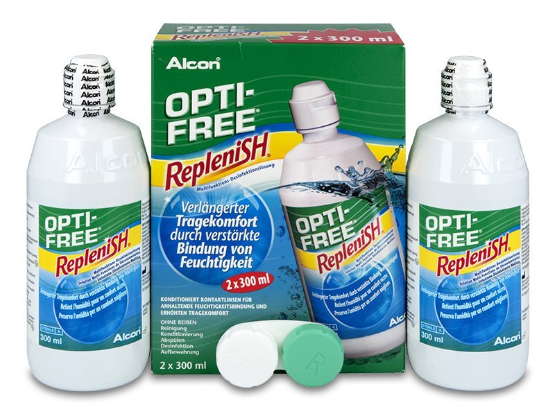 Líquido OPTI-FREE RepleniSH 2 x 300 ml