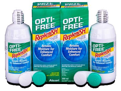 Líquido OPTI-FREE RepleniSH 2 x 300 ml  - Economy duo pack- solution