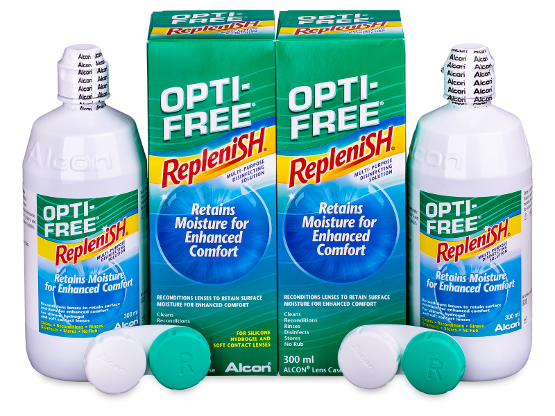 Líquido OPTI-FREE RepleniSH 2 x 300 ml  - Economy duo pack- solution