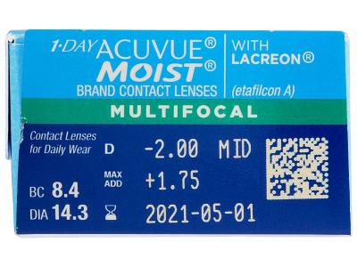 1 Day Acuvue Moist Multifocal (30 lentillas) - Previsualización de atributos