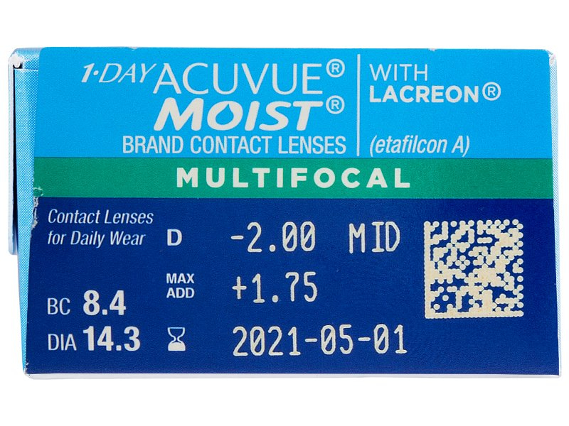 1 Day Acuvue Moist Multifocal (30 lentillas) - Previsualización de atributos