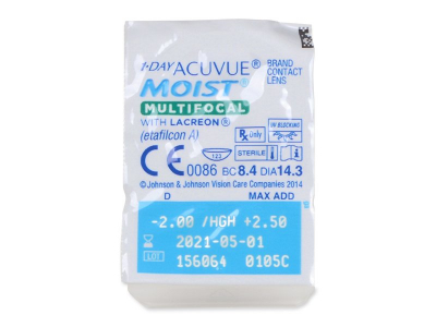 1 Day Acuvue Moist Multifocal (90 lentillas) - Previsualización del blister
