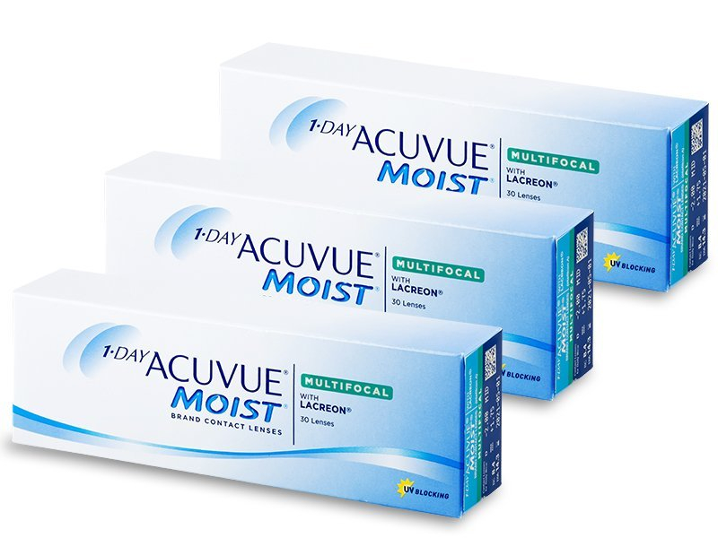 1 Day Acuvue Moist Multifocal (90 lentillas) - Lentes de contacto multifocales