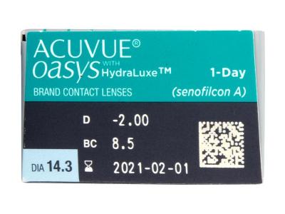 Acuvue Oasys 1-Day (30 lentillas) - Previsualización de atributos