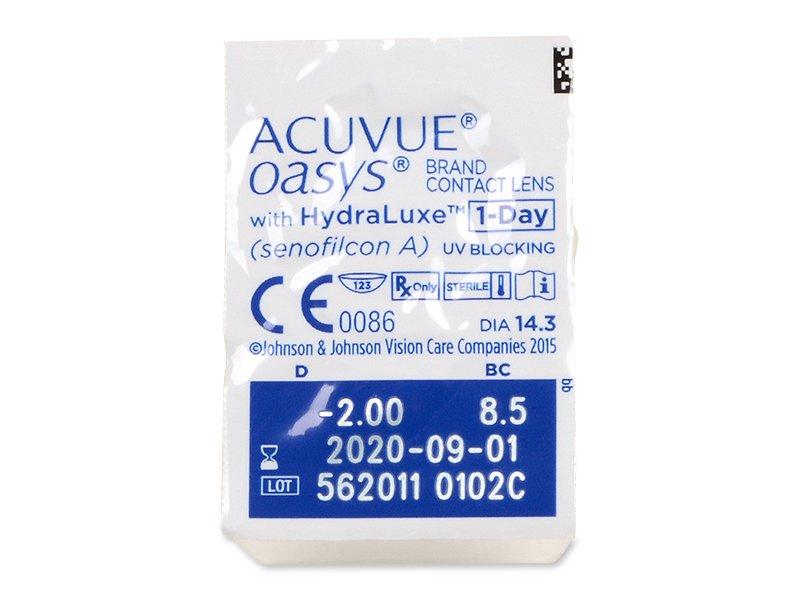 Acuvue Oasys 1-Day (90 lentillas) - Previsualización del blister