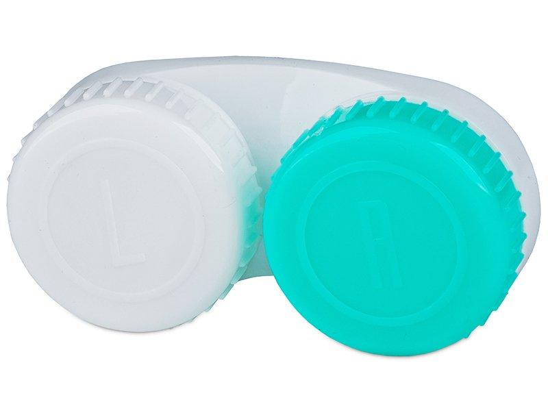 Estuche de lentillas Verde y Blanco L+R