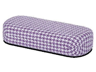 Estuche de gafas - Gallo púrpura y blanco