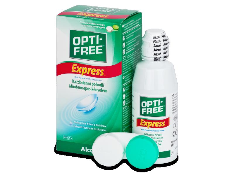 Líquido OPTI-FREE Express 120 ml  - líquido de limpieza