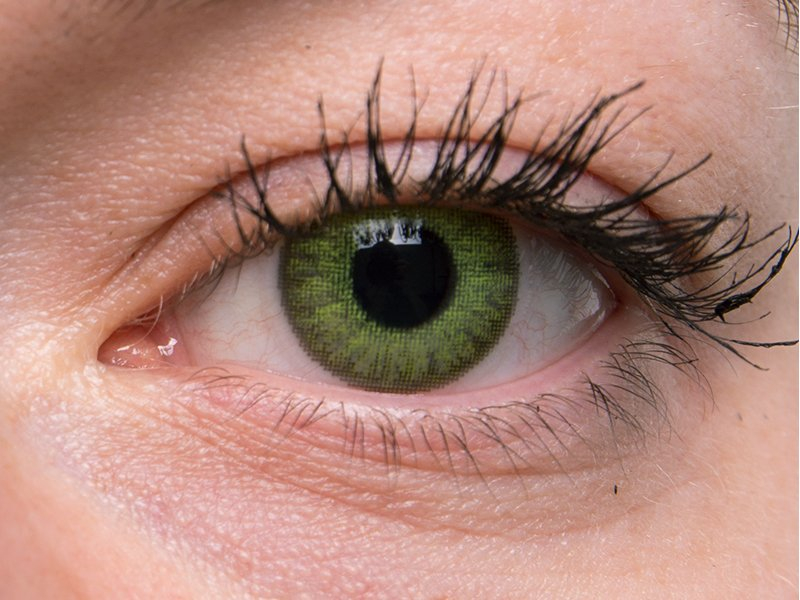 TopVue Color Daily - Graduadas (10 lentillas) - Fresh green en ojos grises