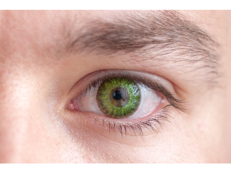 TopVue Color Daily - Graduadas (10 lentillas) - Fresh green en ojos marrones