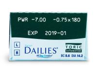 Focus Dailies Toric (30lentillas) - Previsualización de atributos