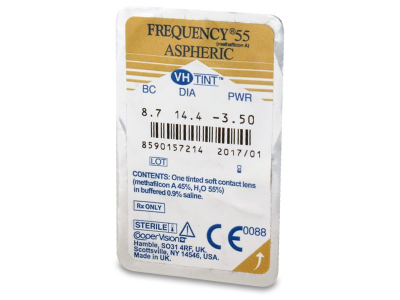 Frequency 55 Aspheric (6lentillas) - Previsualización del blister