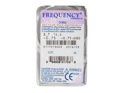 FREQUENCY XCEL Toric (3lentillas) - Previsualización del blister