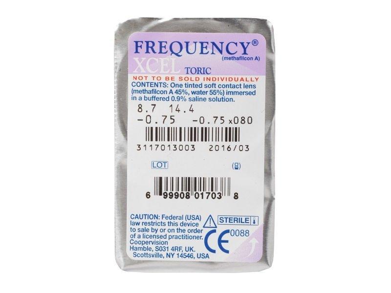48c011627a0ab FREQUENCY XCEL Toric (3 lentillas) - Previsualización del blister