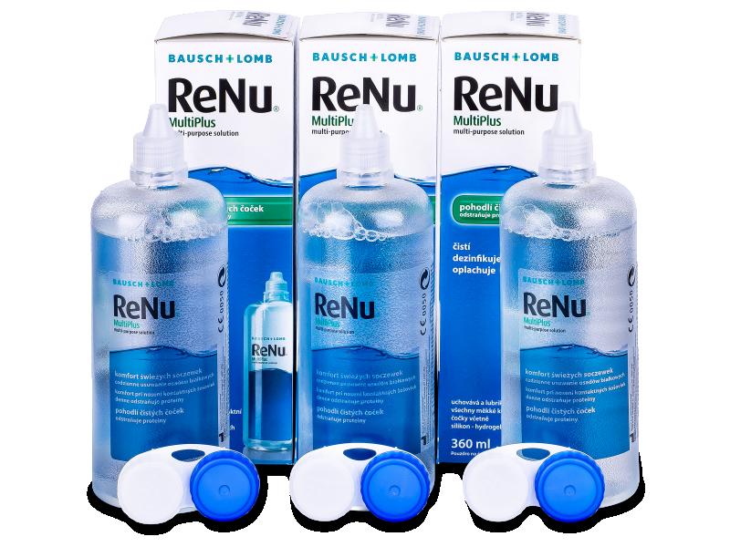 Líquido ReNu MultiPlus 3 x 360 ml  - Pack ahorro - solución triple