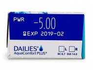 Dailies AquaComfort Plus (30 lentillas) - Previsualización de atributos