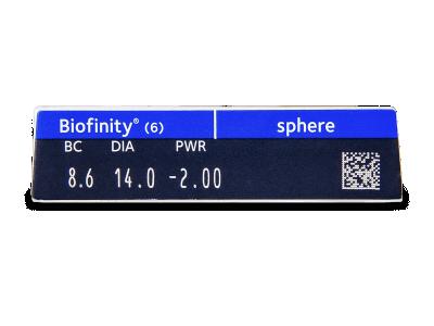 Biofinity (6lentillas) - Previsualización de atributos