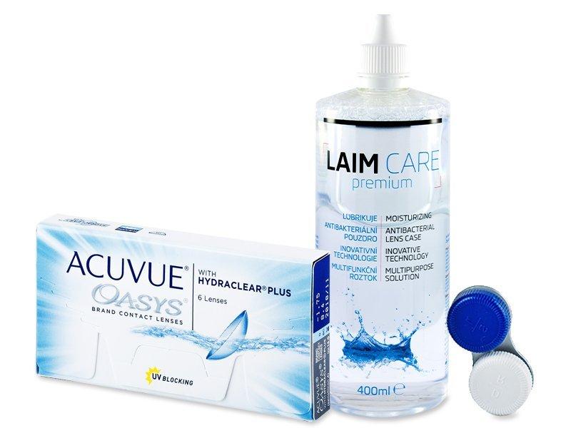 Acuvue Oasys (6lentillas) + Líquido Laim-Care 400 ml - Pack ahorro