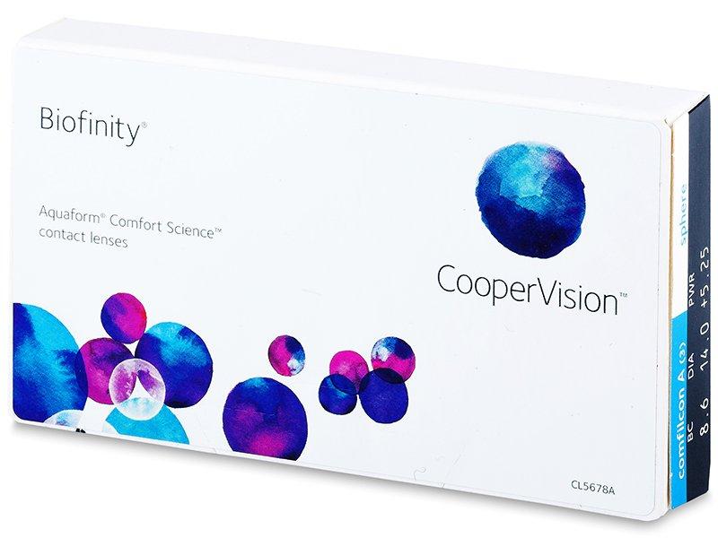 Lentes de contacto mensuales - Biofinity (3lentillas)