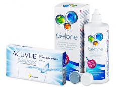 Acuvue Oasys (6lentillas) + Liquido Gelone 360ml - Pack ahorro