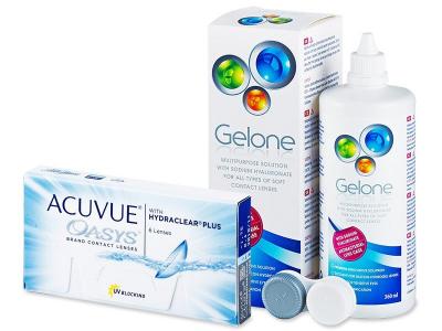 Acuvue Oasys (6lentillas) + Liquido Gelone 360ml