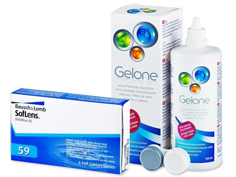 SofLens 59 (6 Lentillas) + Líquido Gelone 360 ml - Pack ahorro