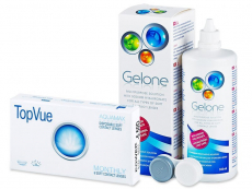 TopVue Monthly (6 Lentillas) + Gelone 360 ml